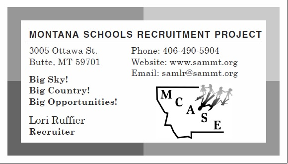 Montana Schools Recruitment Project